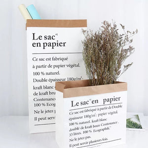 White Paper Bag Decor / Rainy Day