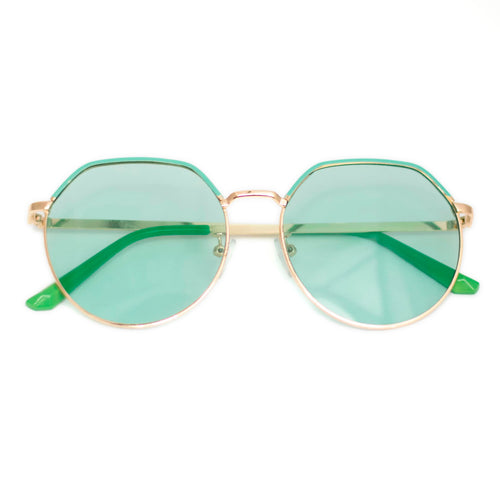 Light Green Frame Sunglasses