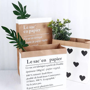 Big Heart Paper Bag Decor