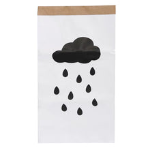 Load image into Gallery viewer, White Paper Bag Decor / Rainy Day