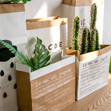 Load image into Gallery viewer, Tall White Paper Bag Decor