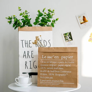 Heart Printed Paper Bag Decor