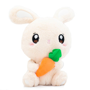 Light Brown Carrot Bunny Plushie