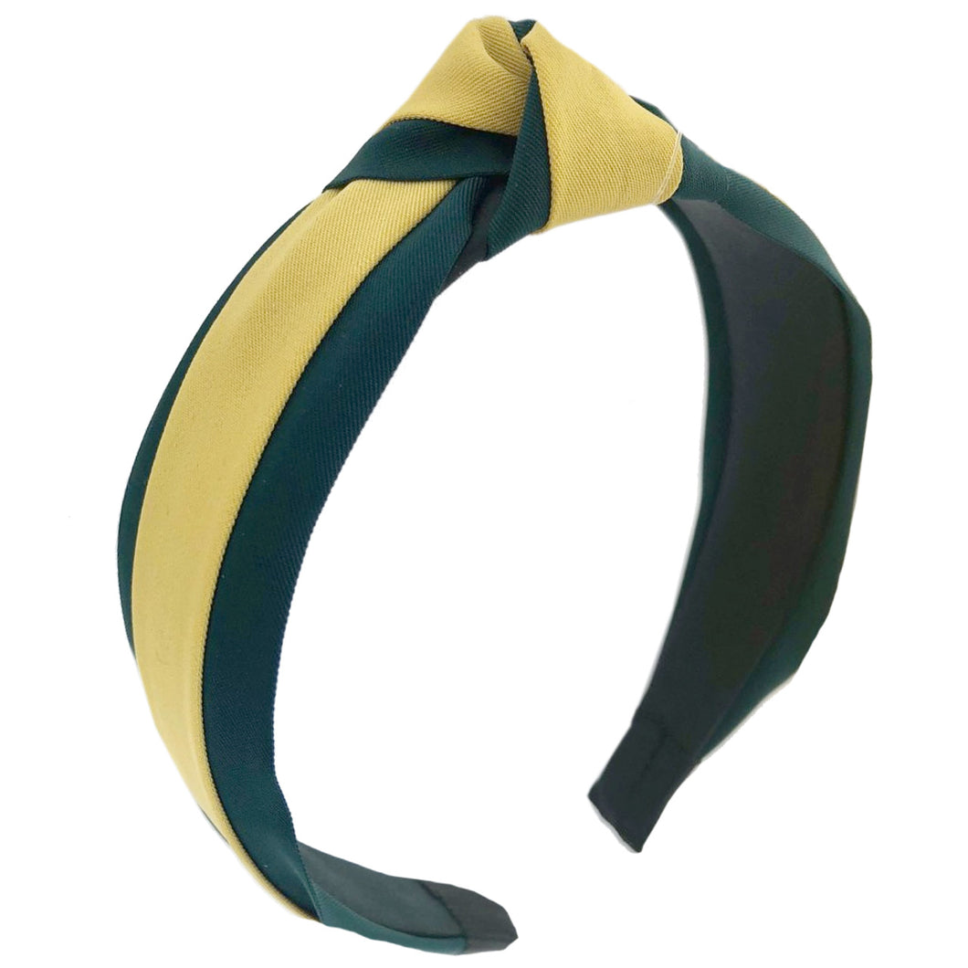 Yellow and Green Striped Headband