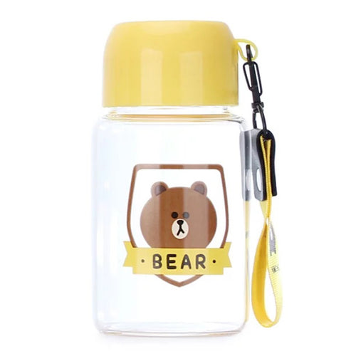 Brown Mini Water Bottle (Yellow)