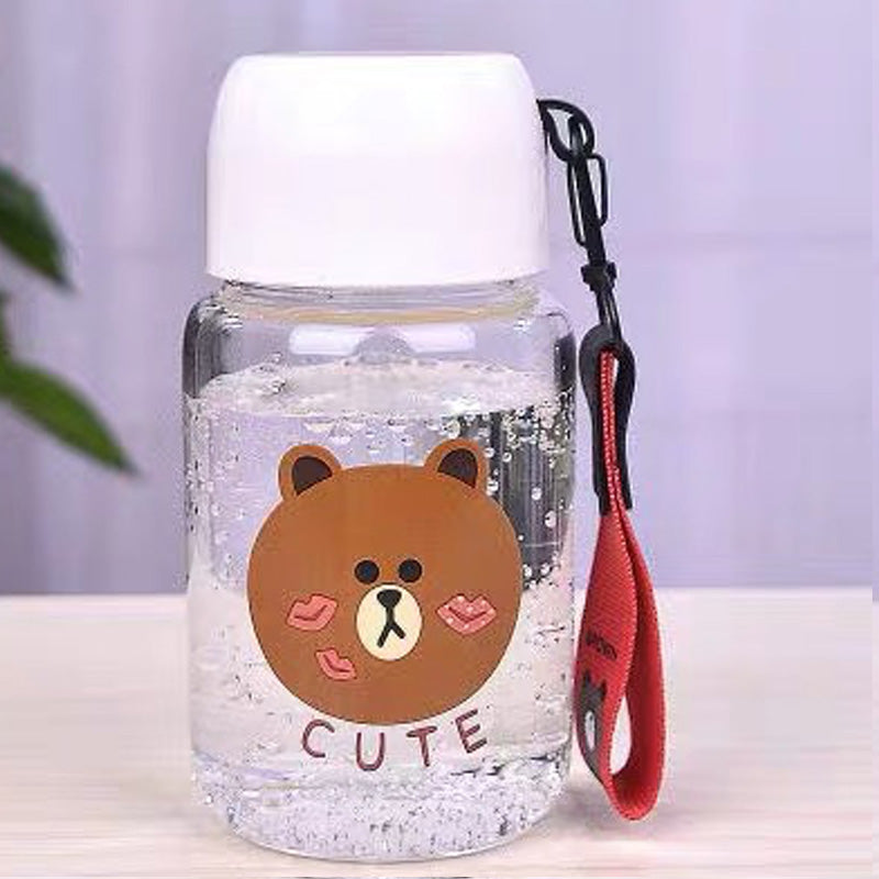 Brown Mini Water Bottle (White)