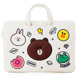Laptop Bag Brown Cony Sally Leonard-White (Restocking)