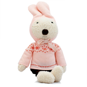 Rabbit Doll in Pink Sweater