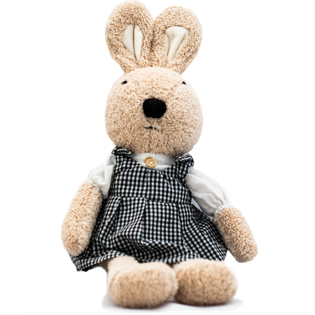 Rabbit Doll in Checkered Dress