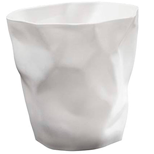 White Crumpled Pencil Holder