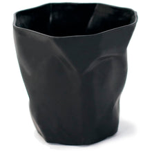 Load image into Gallery viewer, Black Crumpled Pencil Holder