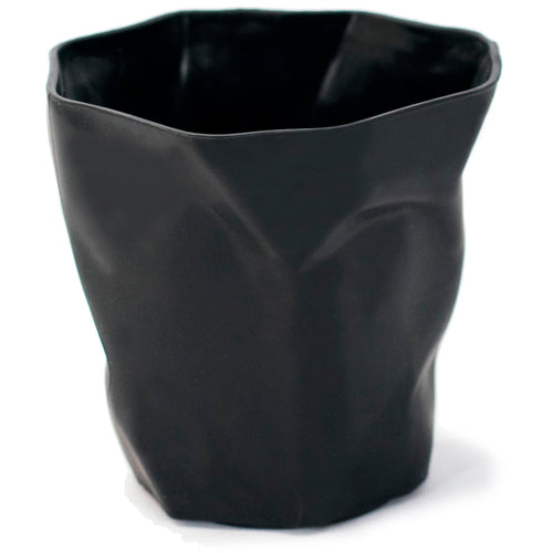 Black Crumpled Pencil Holder