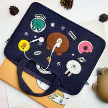 Load image into Gallery viewer, Laptop Bag Brown Cony Sally Leonard-Blue (Restocking)