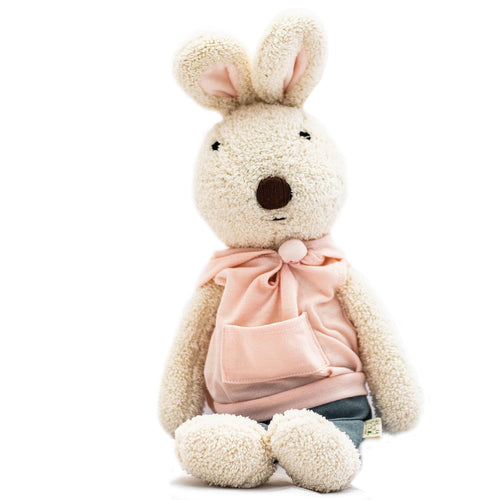 Rabbit Doll in Pink Hoodie