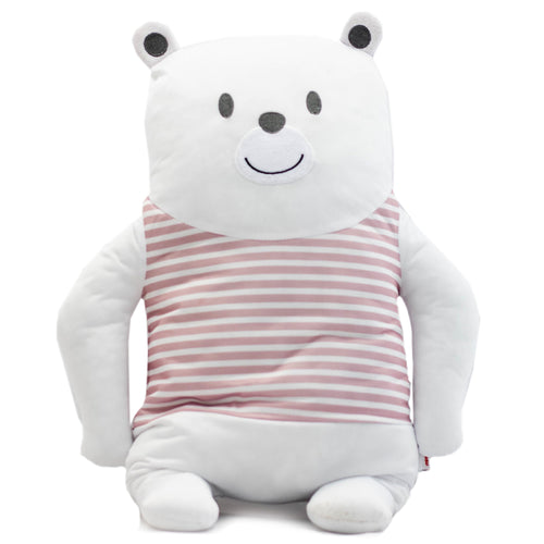 Pink Striped Polar Bear Doll