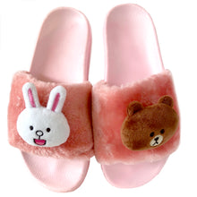 Load image into Gallery viewer, Brown and Cony Slippers-Pink