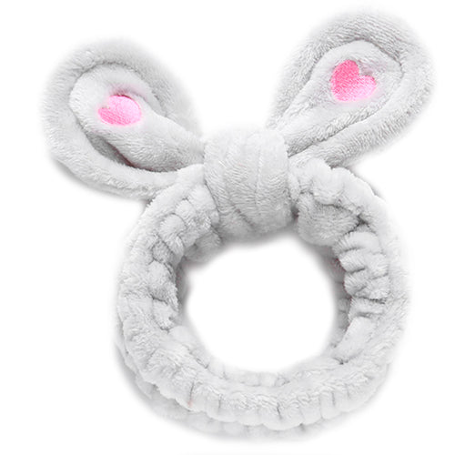 Grey Rabbit Ear Headband