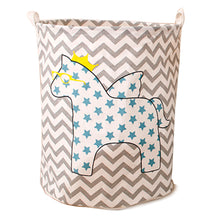 Load image into Gallery viewer, Collapsible Star Printed Unicorn Hamper (Restocking)