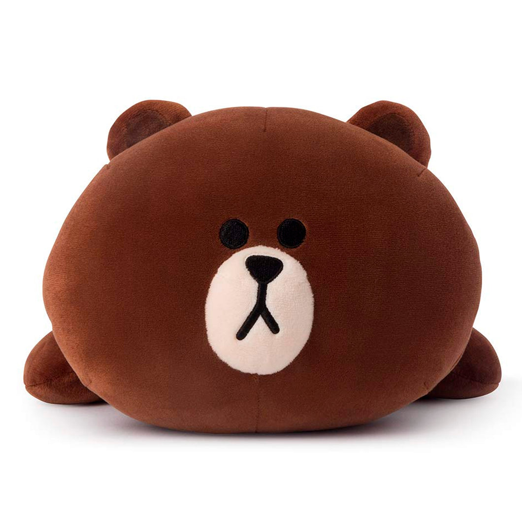 Soft Pillow - Brown Character Stuffed Cushion, Brown