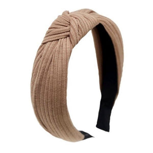 Ribbed Knotted Bow Headband