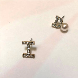 ESN034-I Do Letter Earrings