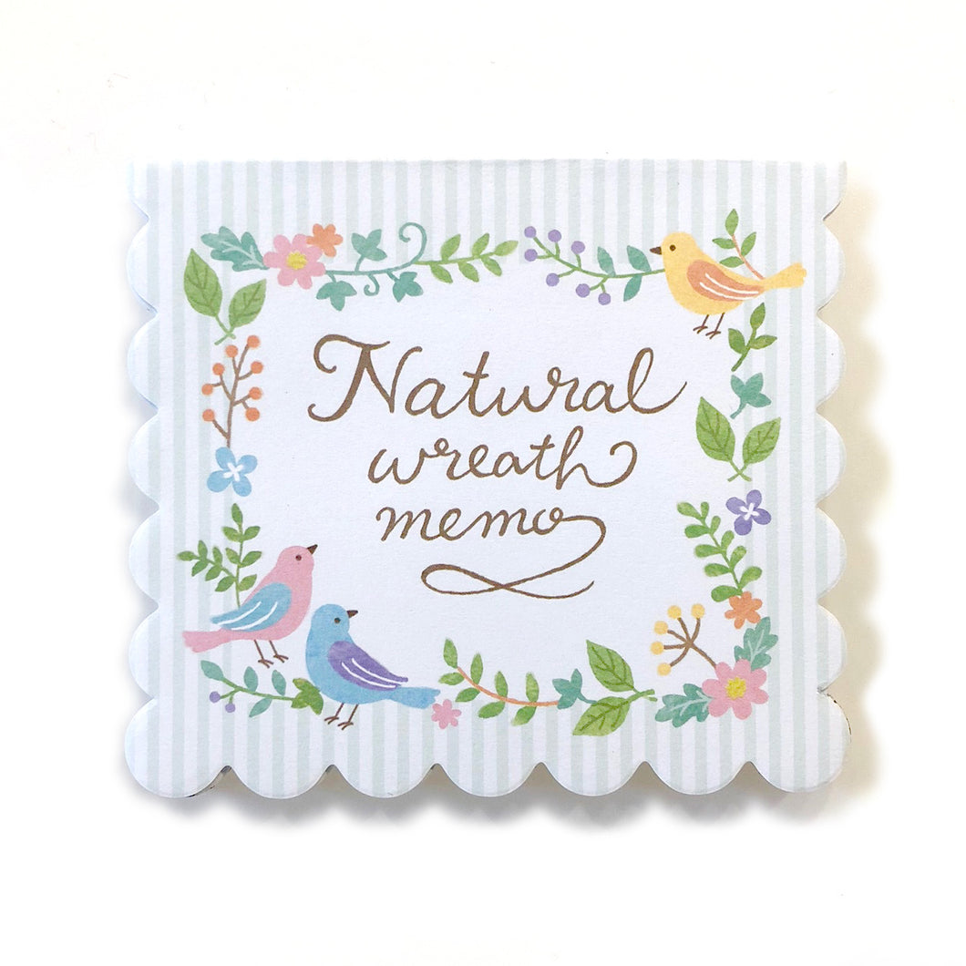 Natural Wreath Memo