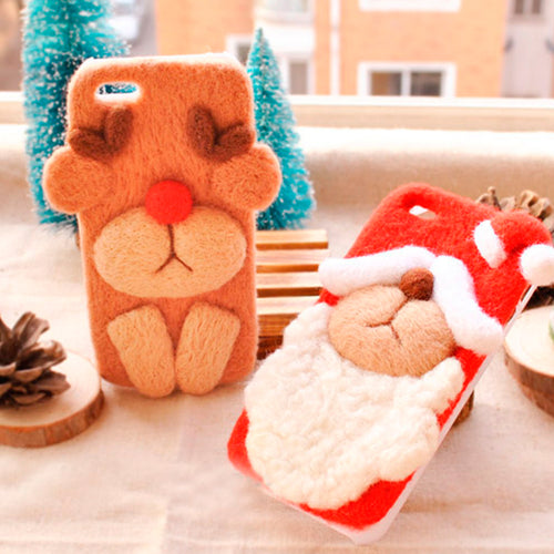 Christmas Wool Felt Phone Case (Ages 16+)