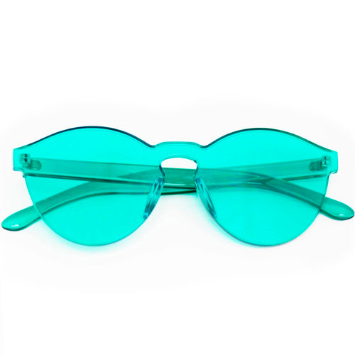 Solid Turquoise Frame Sunglasses