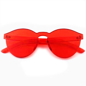 Solid Red Frame Sunglasses
