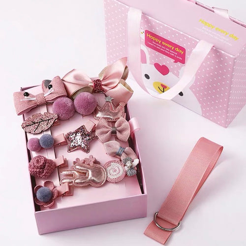 Kids Hair Clips Gift Box