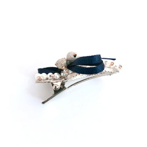 Neve blue Wrapped Ribbon Hair Clip