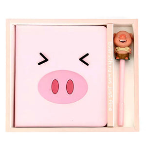Pink Pig Notebook Set- A style
