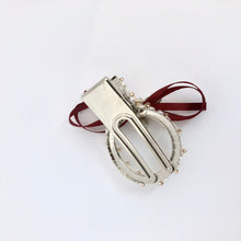 Load image into Gallery viewer, Red Wrapped Ribbon Hair Clip