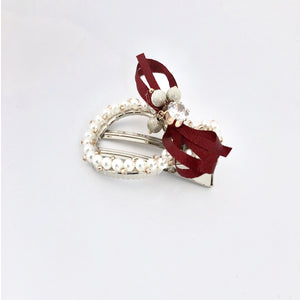 Red Wrapped Ribbon Hair Clip