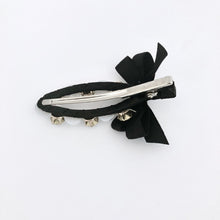 Load image into Gallery viewer, Black Ribbon Hair Clip