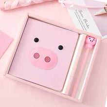 Load image into Gallery viewer, Pink Pig Notebook Set - B style