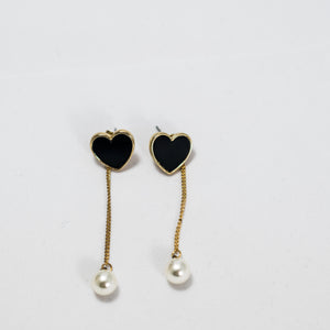 ESN037-Dangle Heart Earrings
