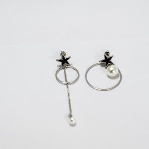 ESN035-Hoop and Star Earrings