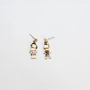 ESN032-Boy and Girl Earrings