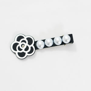 Flower with Pearl Hair Clip