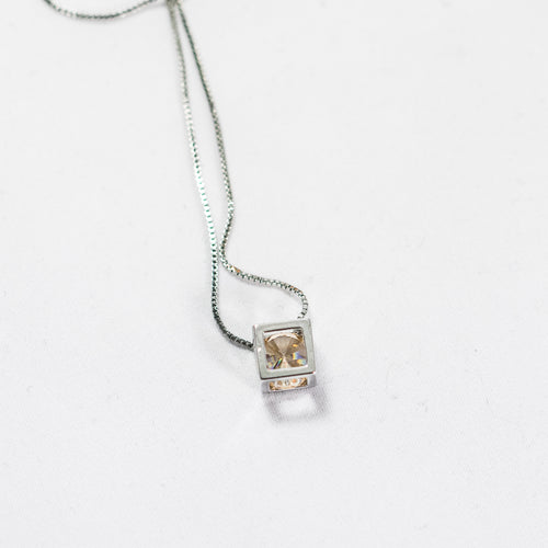 Jewel in Cube Necklace