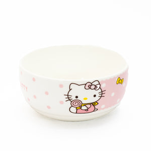 Hello Kitty Ceramic Bowl Set(2 x Bowls, 2x plates,2 x Pairs of Chopsticks, 2x spoons)