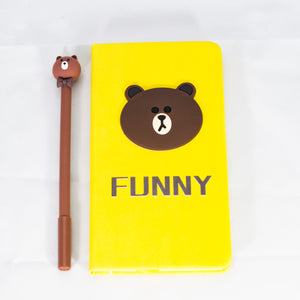 Brown Notebook and Pen Set