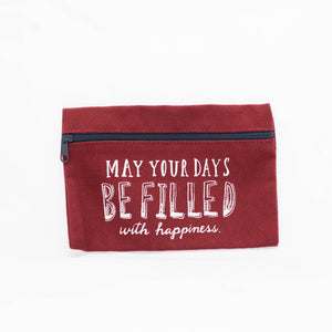 Small Red Canvas Pouch