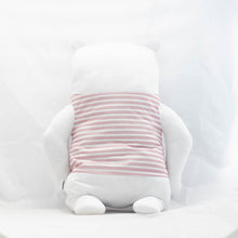 Load image into Gallery viewer, Pink Striped Polar Bear Doll