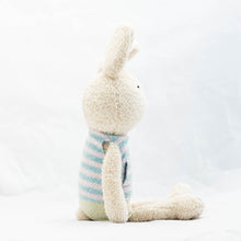 Load image into Gallery viewer, Rabbit Doll in Blue Striped Shirt