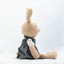 Load image into Gallery viewer, Rabbit Doll in Checkered Dress
