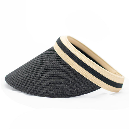 Black Striped Sun Hat