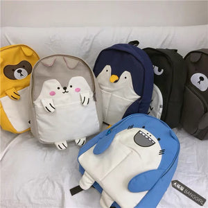 Character Animal Backpack- Blue Whale