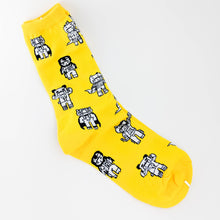 Load image into Gallery viewer, Yellow Patterned Socks